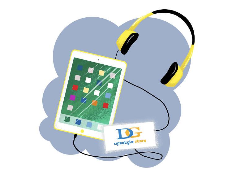 週六下午三時︰到 DG Lifestyle Store 購買最新電子產品