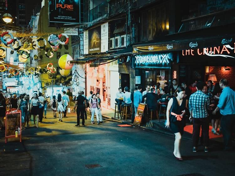 Party in Lan Kwai Fong