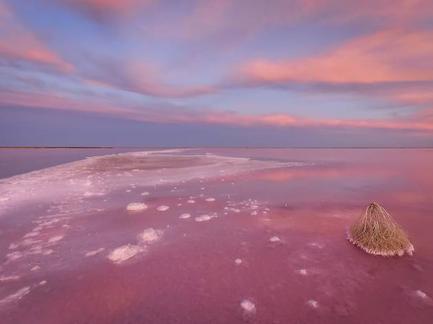 Where to find Victoria's pink lakes