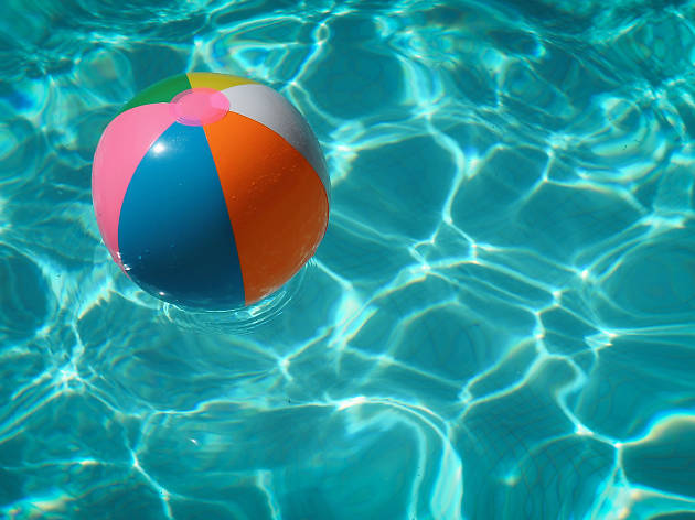 Pool and beach ball