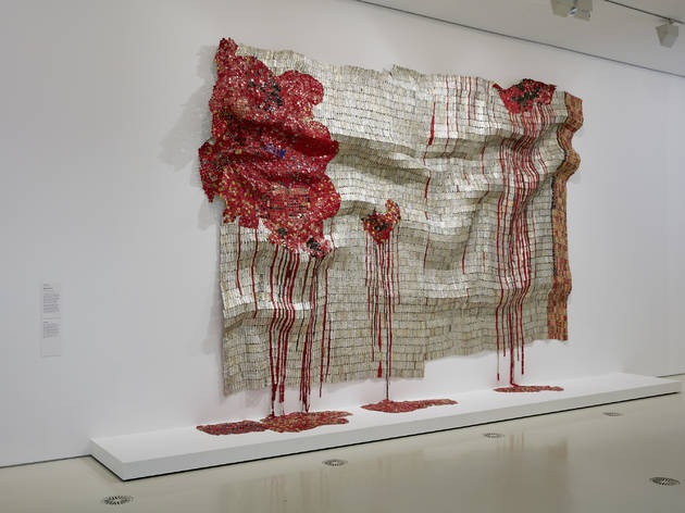 (El Anatsui, 'Bleeding Takari II' 2007, Photograph: Tom Ross)