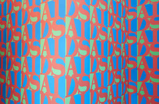 (General Idea (artists' group), AA Bronson, Felix Partz, Jorge Zontal 'AIDS (Wallpaper)' 1988, Photograph: Tom Ross)