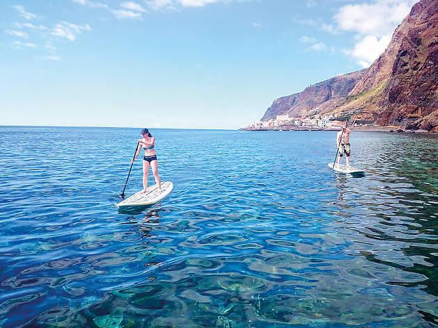 Stand Up Paddle pela costa da Madeira
