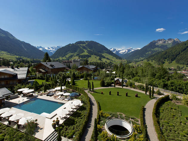 The Alpina Gstaad hotel, for Swiss staycation campaign, title image for hub page