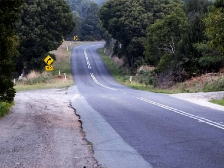 A gravity-defying hill in Mount Macedon