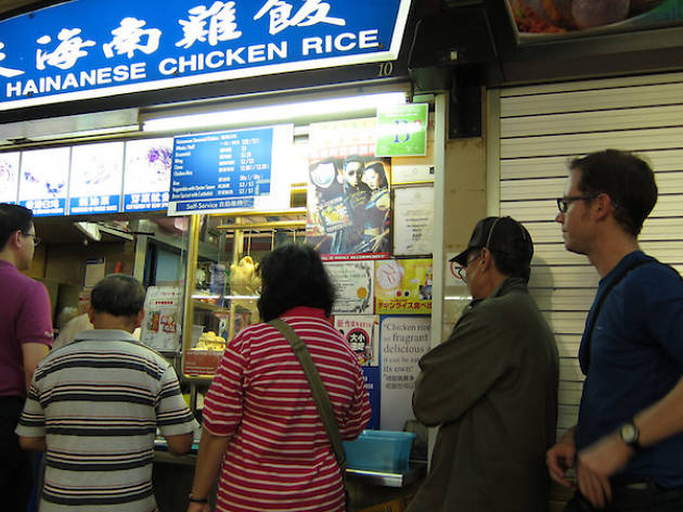 Hainanese Chicken Rice Queue