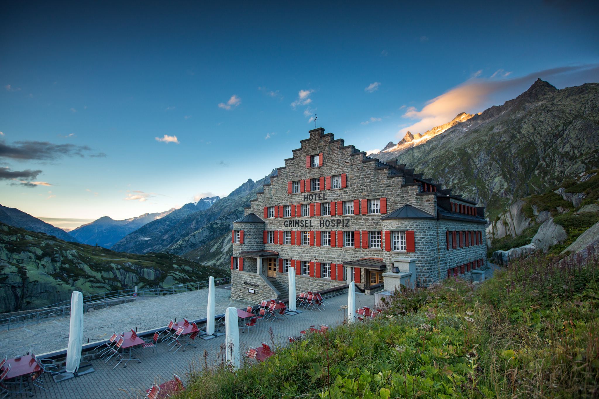 Grimsel Hospiz hotel, for Swiss staycation campaign