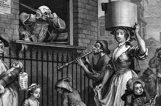 William Hogarth (1697-1764), The Enraged Musician (detail), 1741