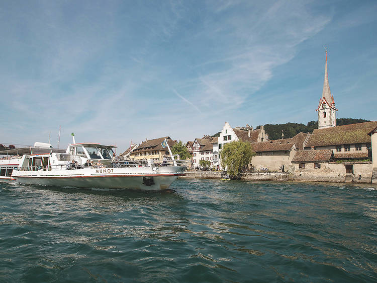 La croisière sur le Rhin entre Schaffhouse et Stein am Rhein