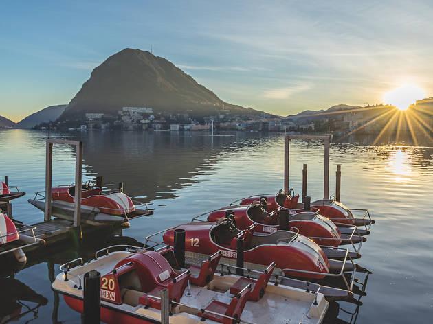 Lugano, Winterabend
