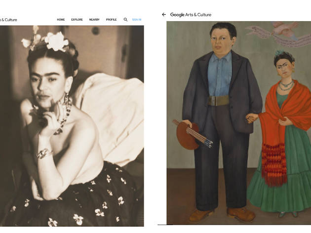 Frida Kahlo en Google Arts & Culture