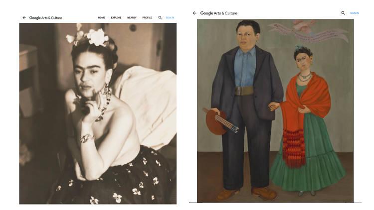 Frida Kahlo en Google Arts & Culture