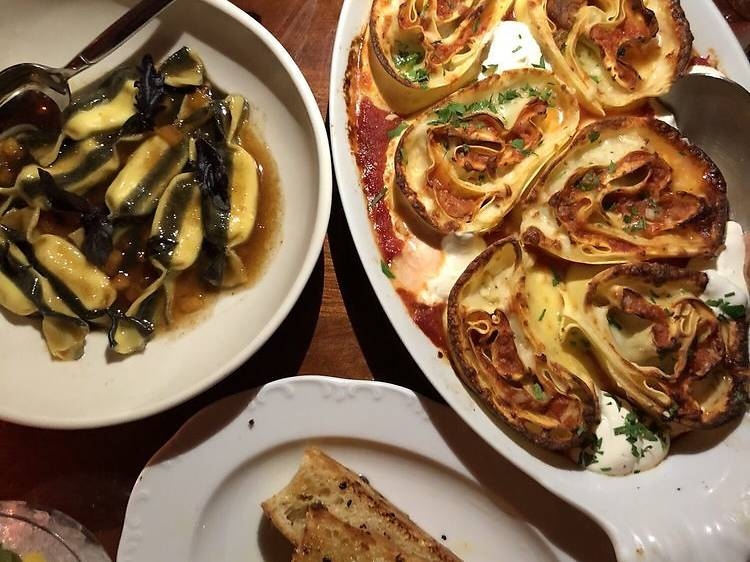 Bologna-style lasagna for two at Don Angie