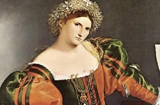 Una mujer veneciana vestida como Lucrecia, de Lorenzo Lotto