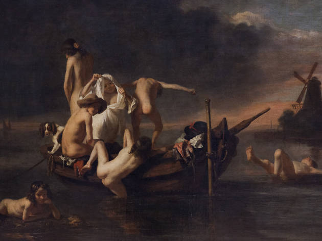Nicolaes Maes, La Baignade, vers 1655-1660