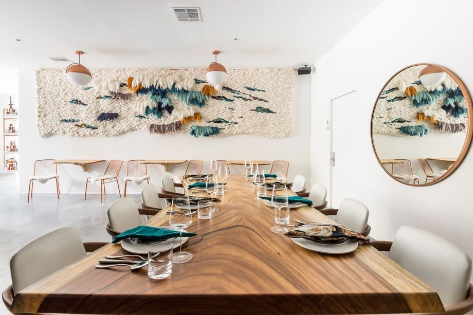Dining table at Merchant Roots