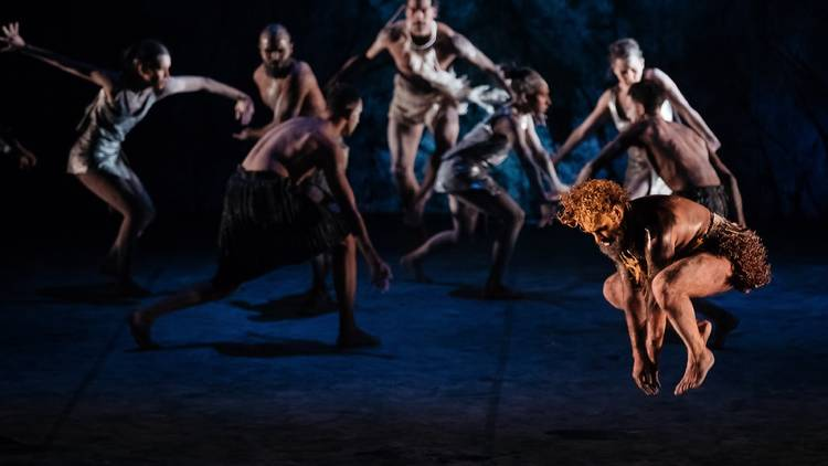 Dark Emu performers on stage at Sydney Opera House