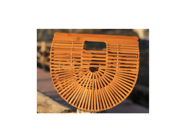Bolso jaula bambú