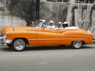 orange car from old car tours