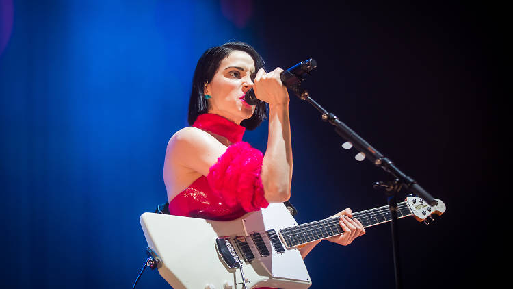 St Vincent performing at Carriageworks