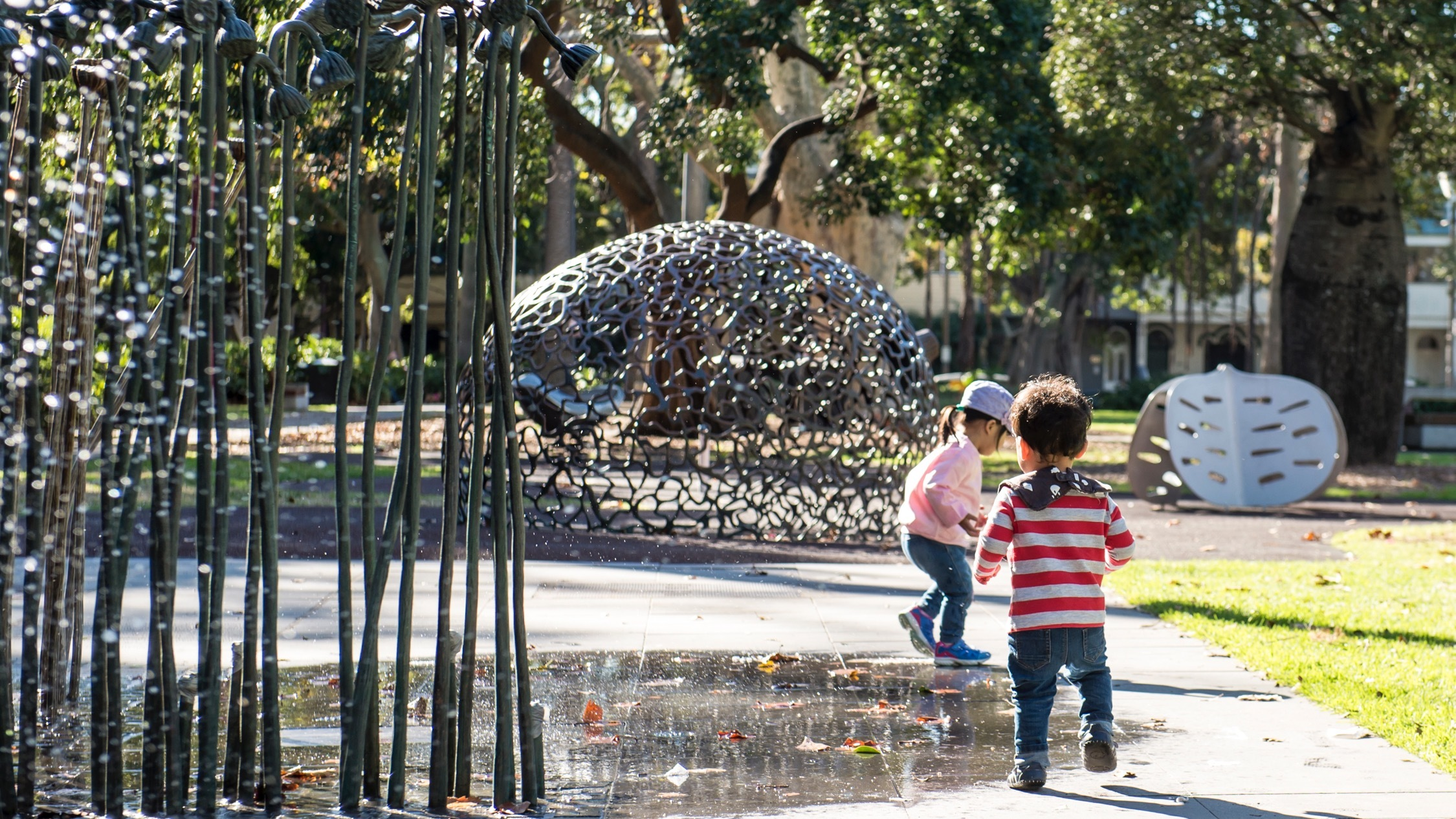 Kids playing at Redfern Park