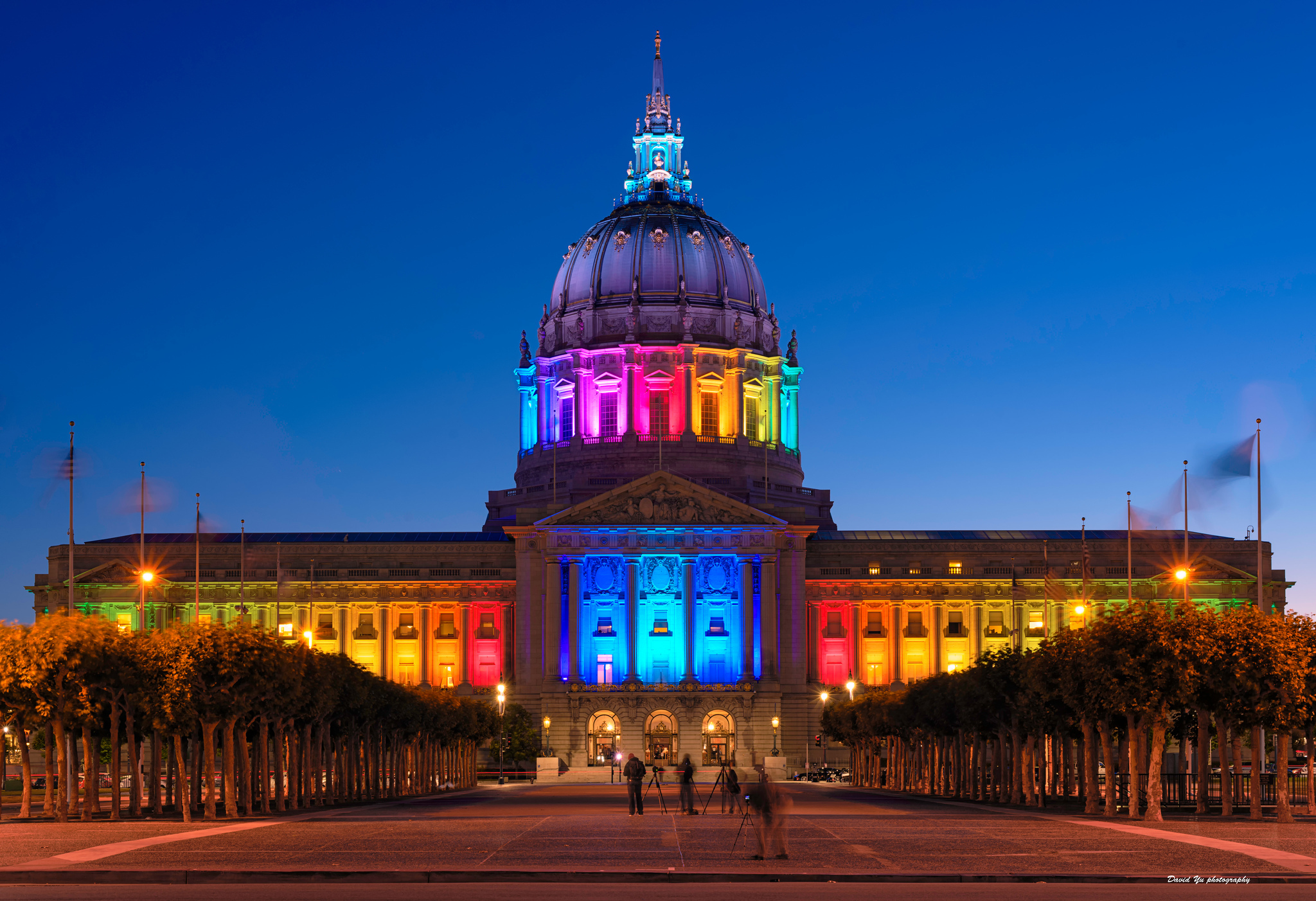 City Hall during Pride week
