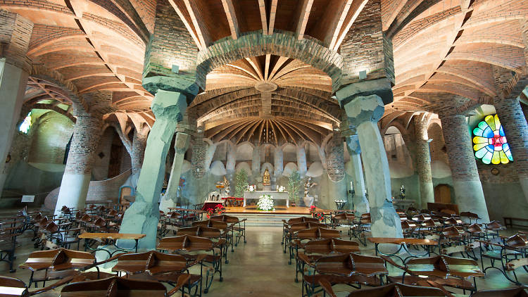 Cripta Gaudí, a la Colònia Güell