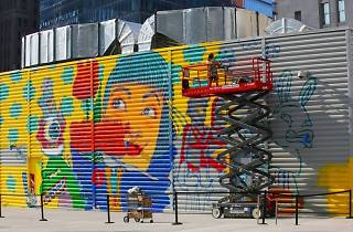 Bright new street murals have transformed the streets around the World Trade Center