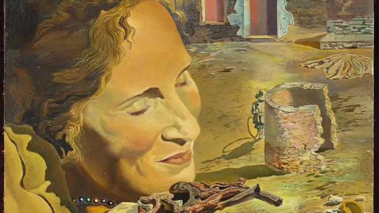 Salvador Dali. Retrat de Gala amb dues costelles de xai en equilibri sobre la seva espatlla, 1934