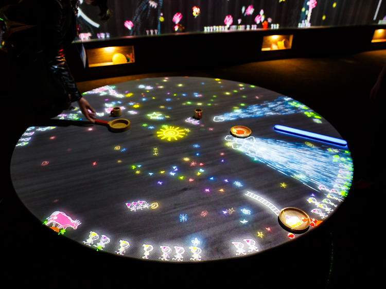 Future Park: A Table and Musical Wall Where Little People Live
