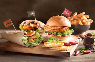 Haloumi Range  burgers and wraps at Nandos