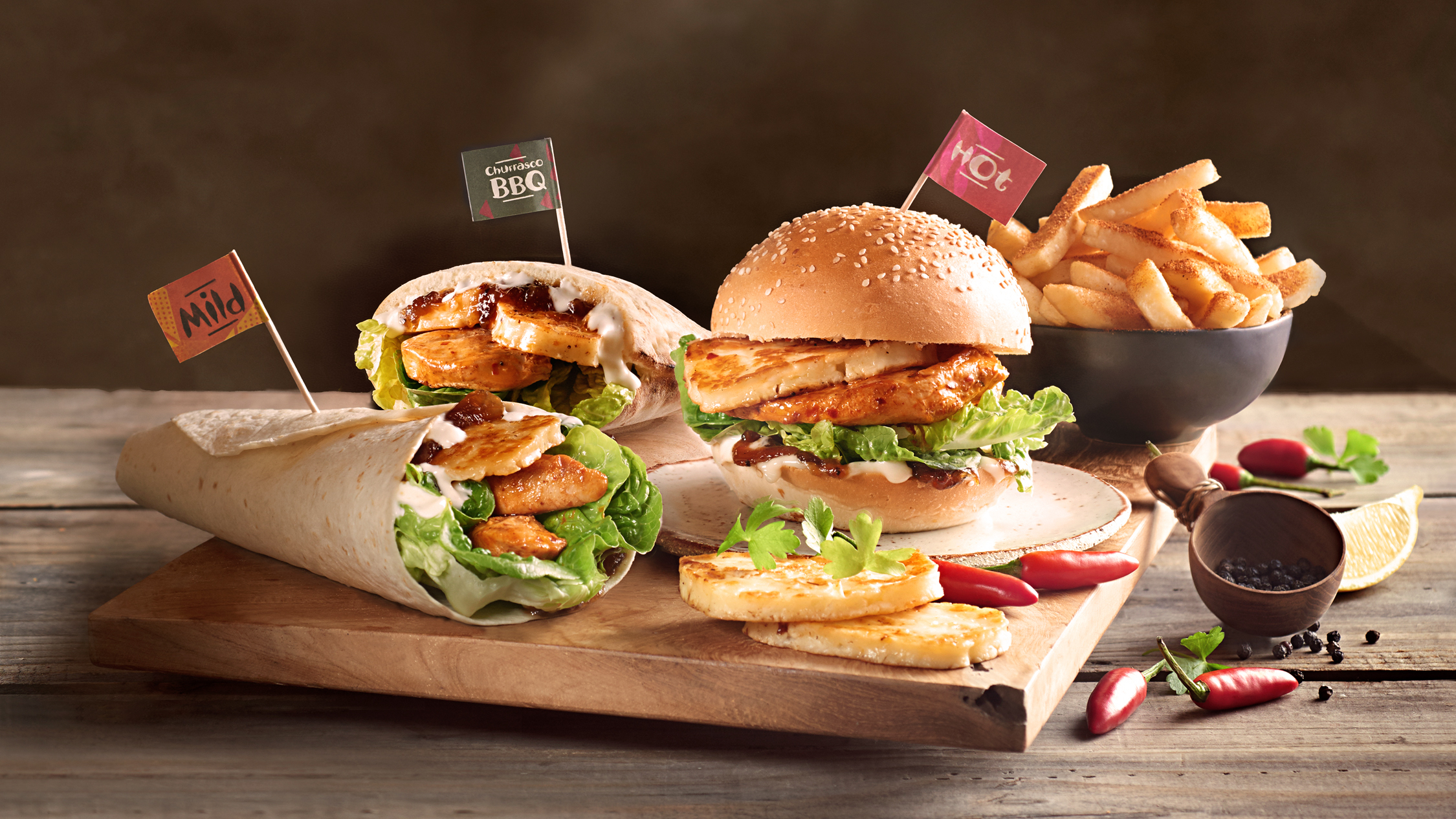 Nando's fulfils your cheese dreams with a halloumi chicken burger