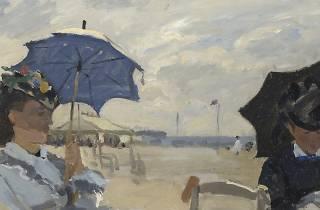 En la playa de Trouville, 1869. Monet