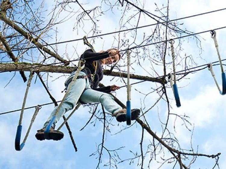 Entre arbres i tirolines a Astúries