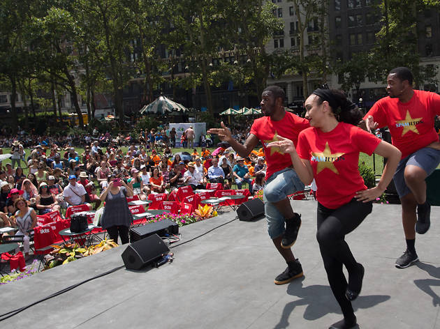 See free Broadway performances in Bryant Park