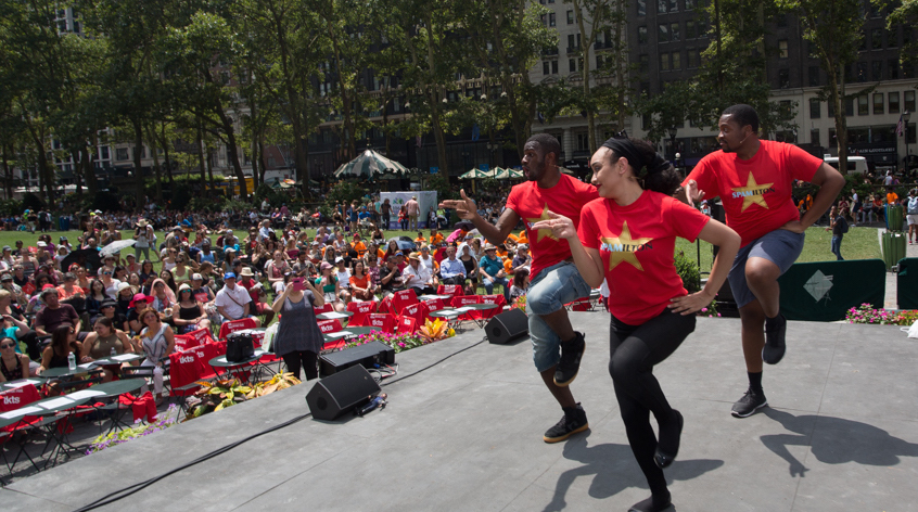 See free Broadway performances in Bryant Park this summer