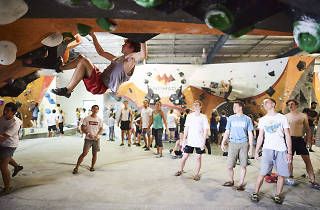 during the Topped Out ft. Chris Sharma event at Nomad Bouldering in Sydney, Australia on December 2, 2017.