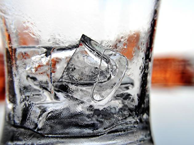 Ice in glass, for Schweppes campaign