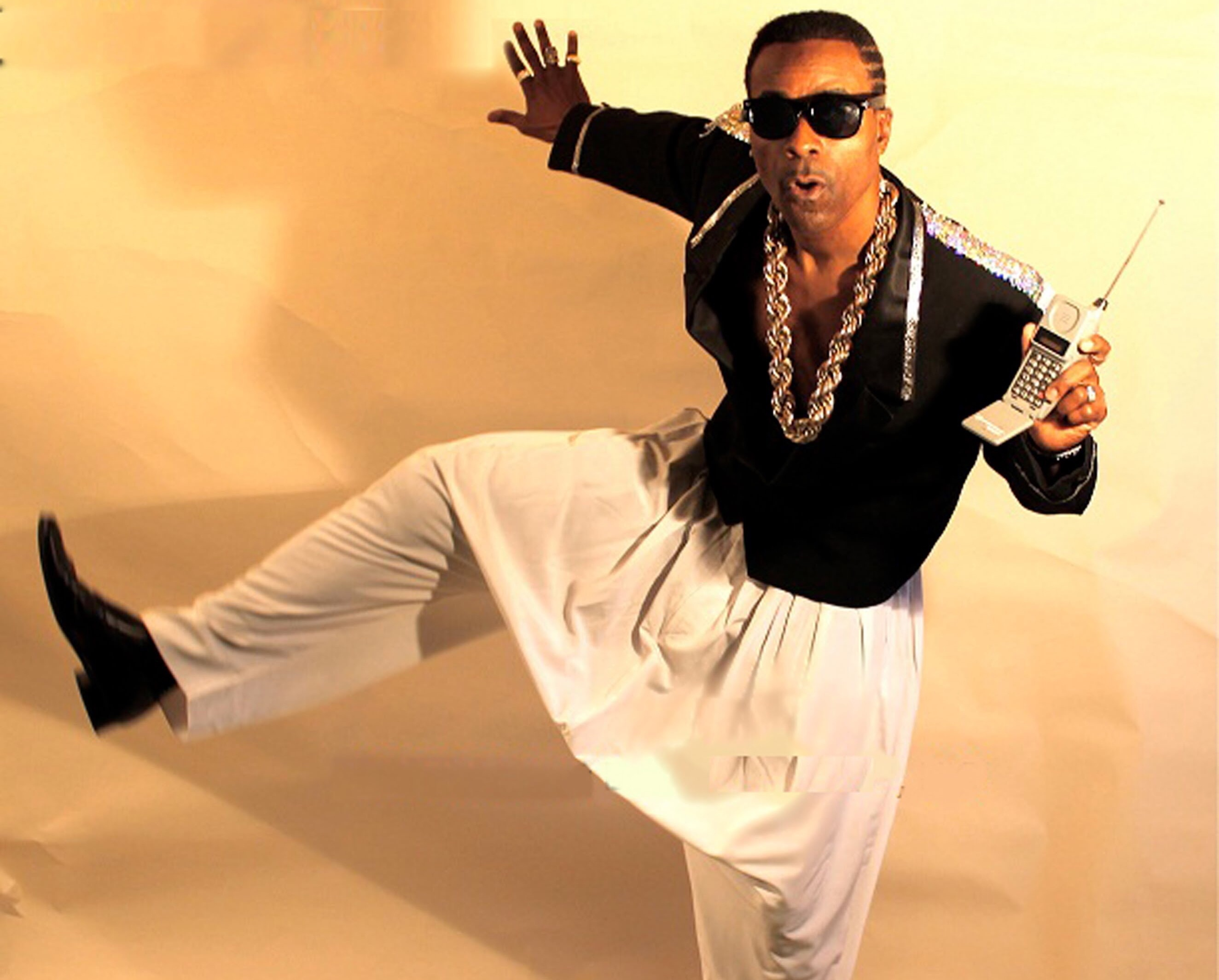 An MC Hammer outfit is close to ideal
