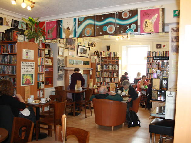 books and beans cafe bookshop aberdeen