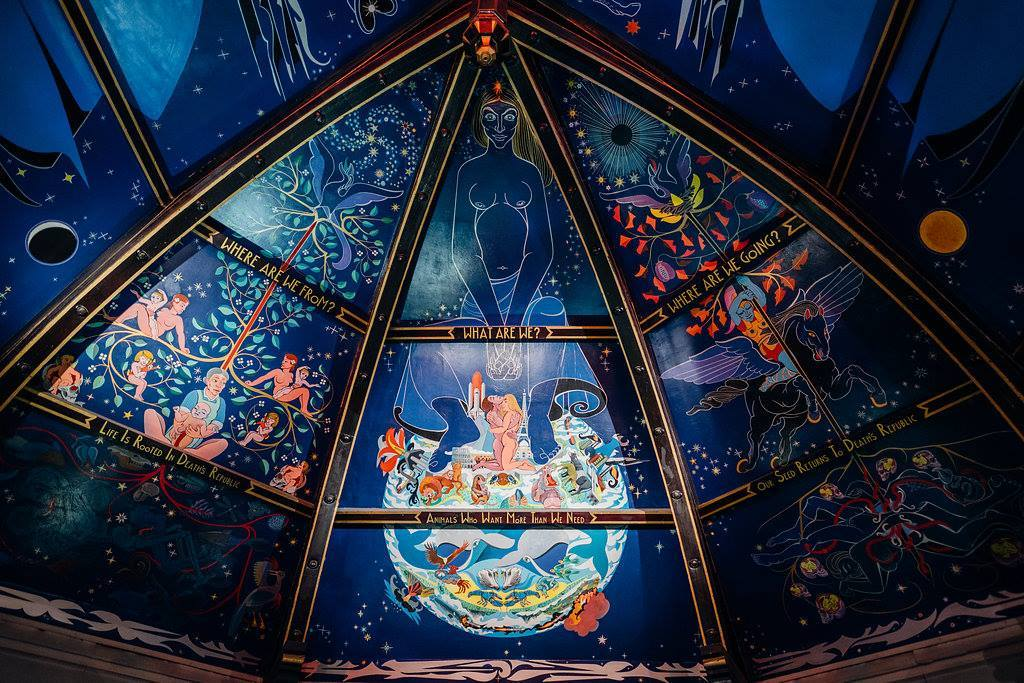 oran mor glasgow auditorium ceiling fresco alasdair gray