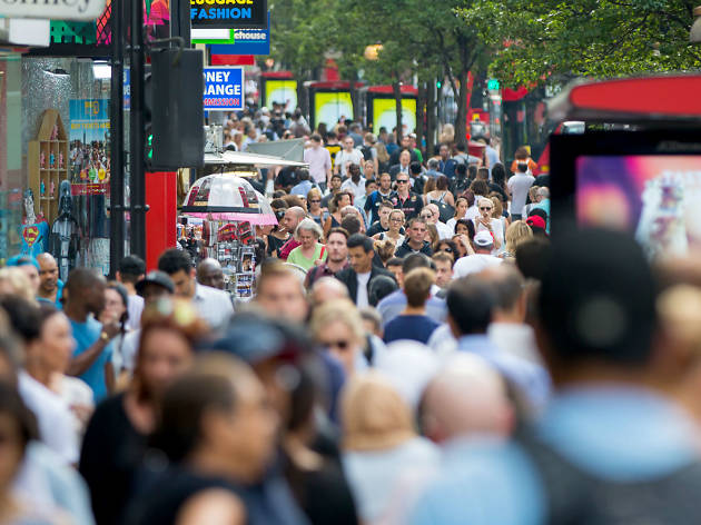 Crowds in London
