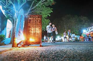 Arugambay at night