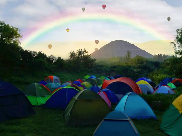 Campamento en Teotihuacan