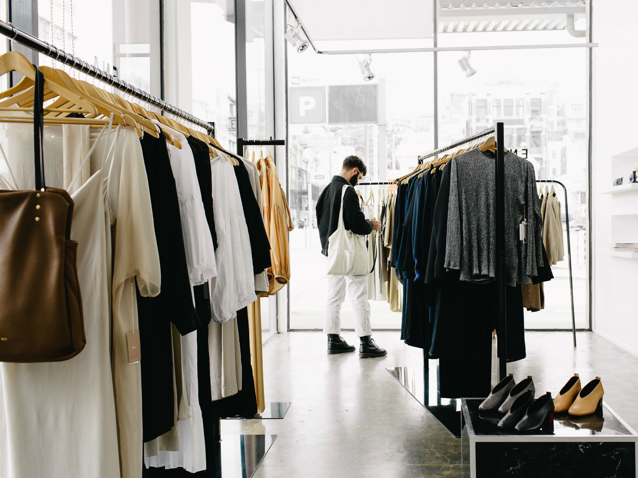 Person shopping at ENA boutique in Wellington