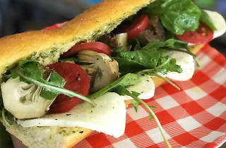 the artichoke caprese from Uncle Paulie's Deli