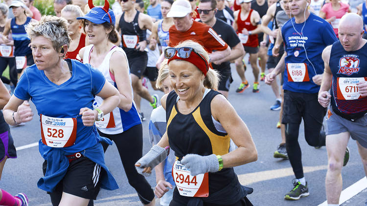 People compete in City2Surf race.