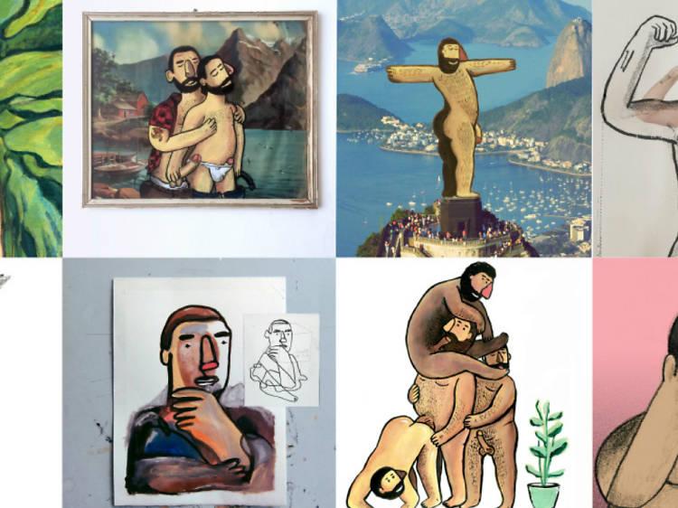 Radríguez, el ilustrador homoerótico de los cuerpos grandes