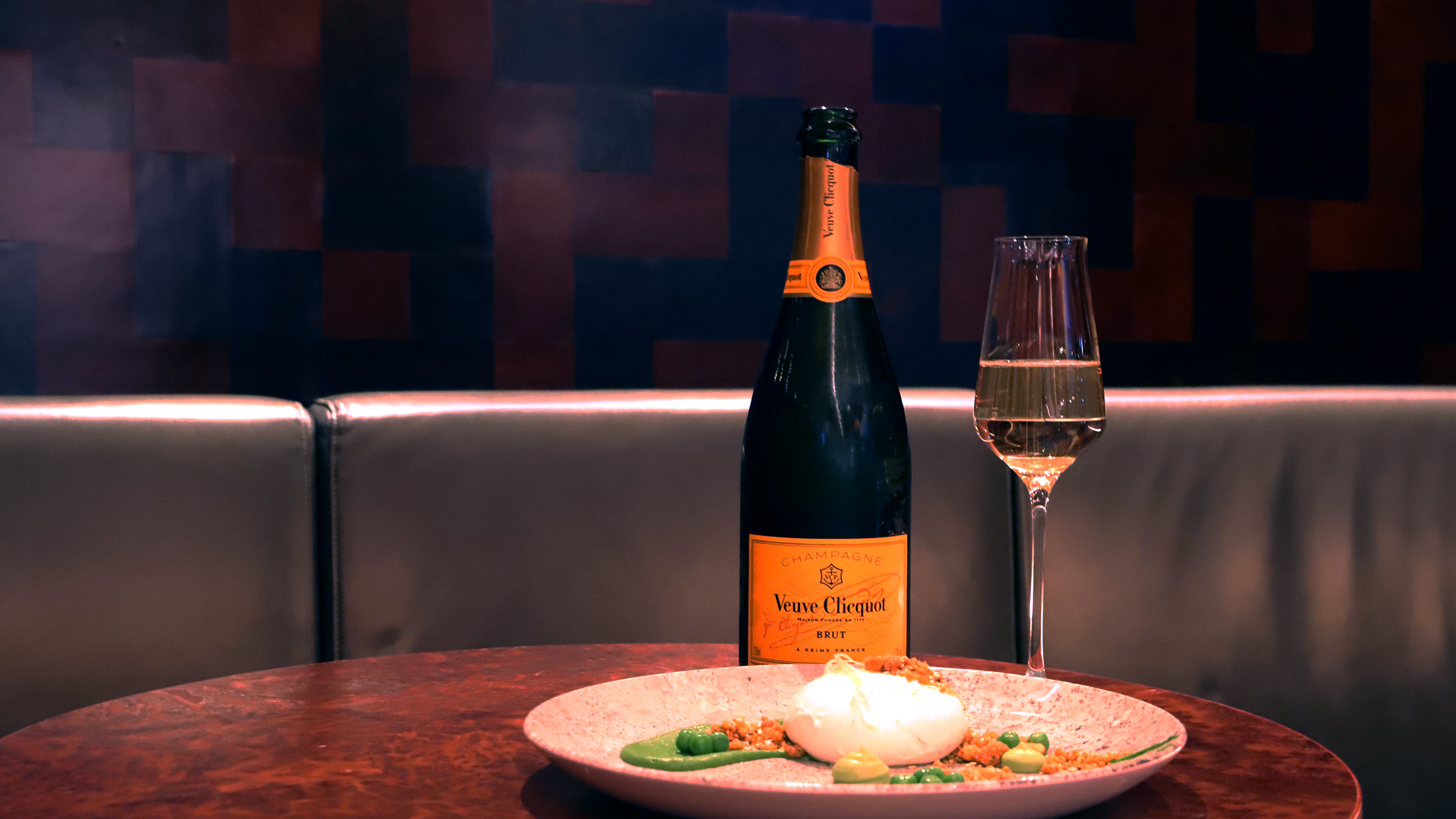 Champagne Bar pairs Veuve Clicqot with their new winter menu