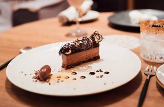 An elaborate chocolate cake